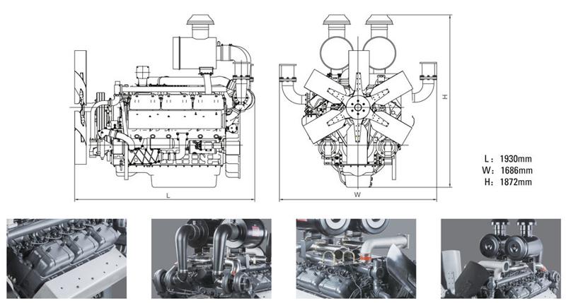 上柴股份400千瓦柴油发电机组技术参数规格型号